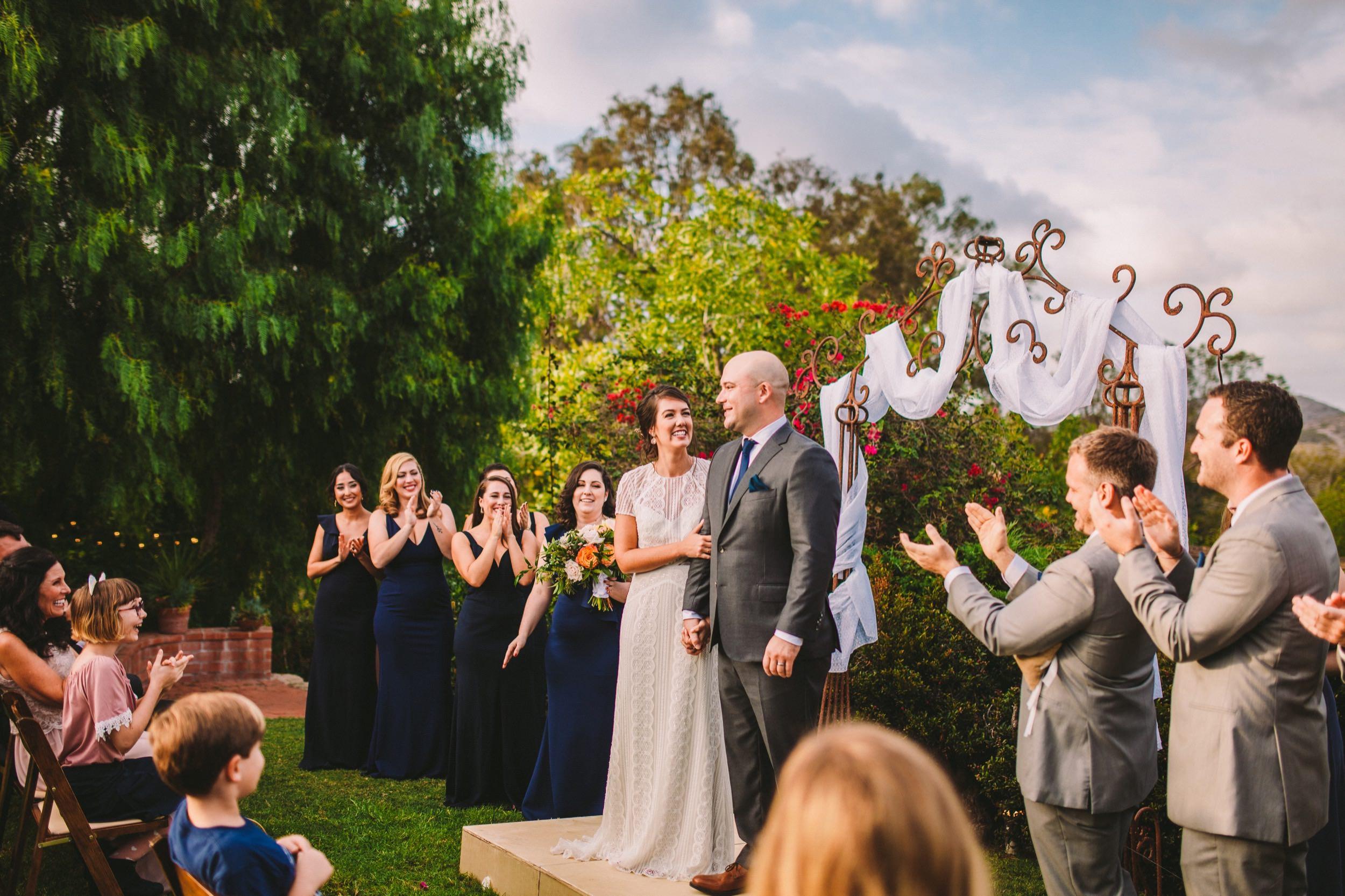 Vibrant & Joyful Wedding Ceremony Photography in Carlsbad
