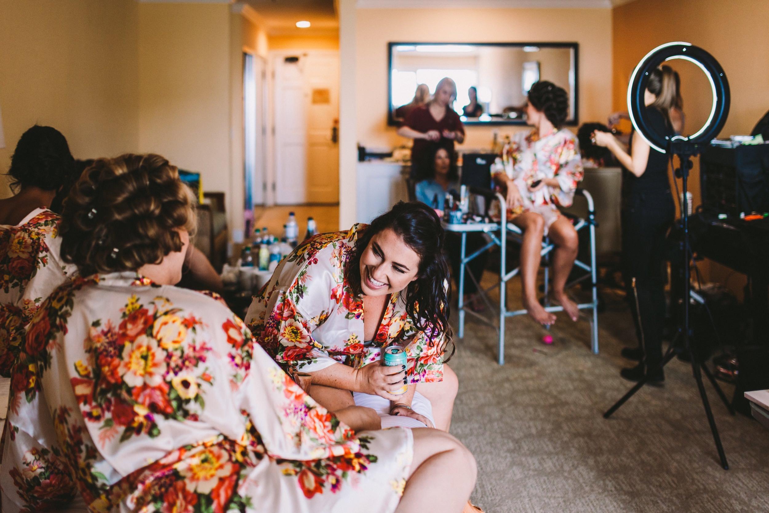 CarlsBad Inn Wedding Prep During the Morning of a Wedding