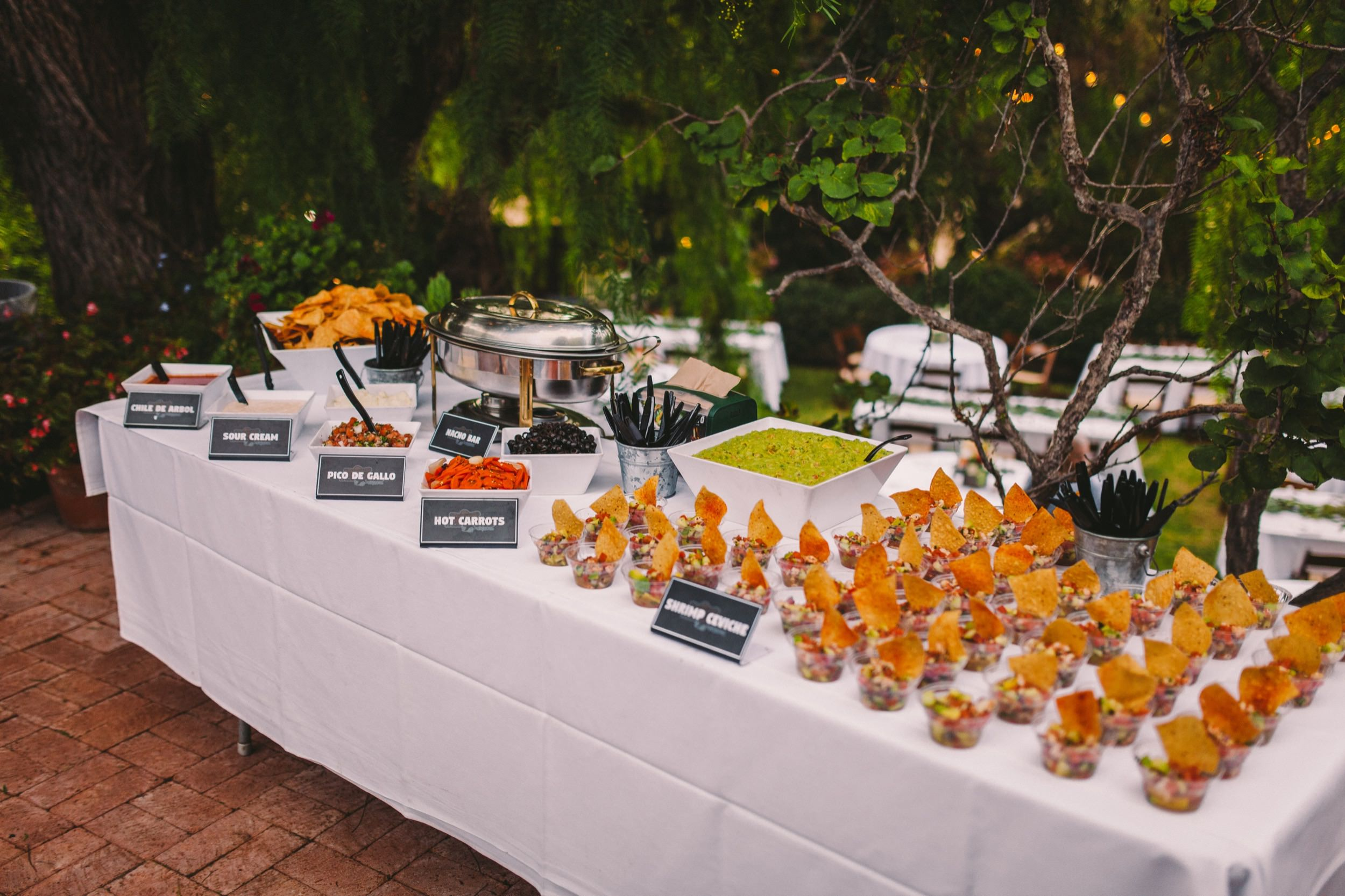 San Diego Taco Company Catering a Wedding at Old Rancho in Carlsbad