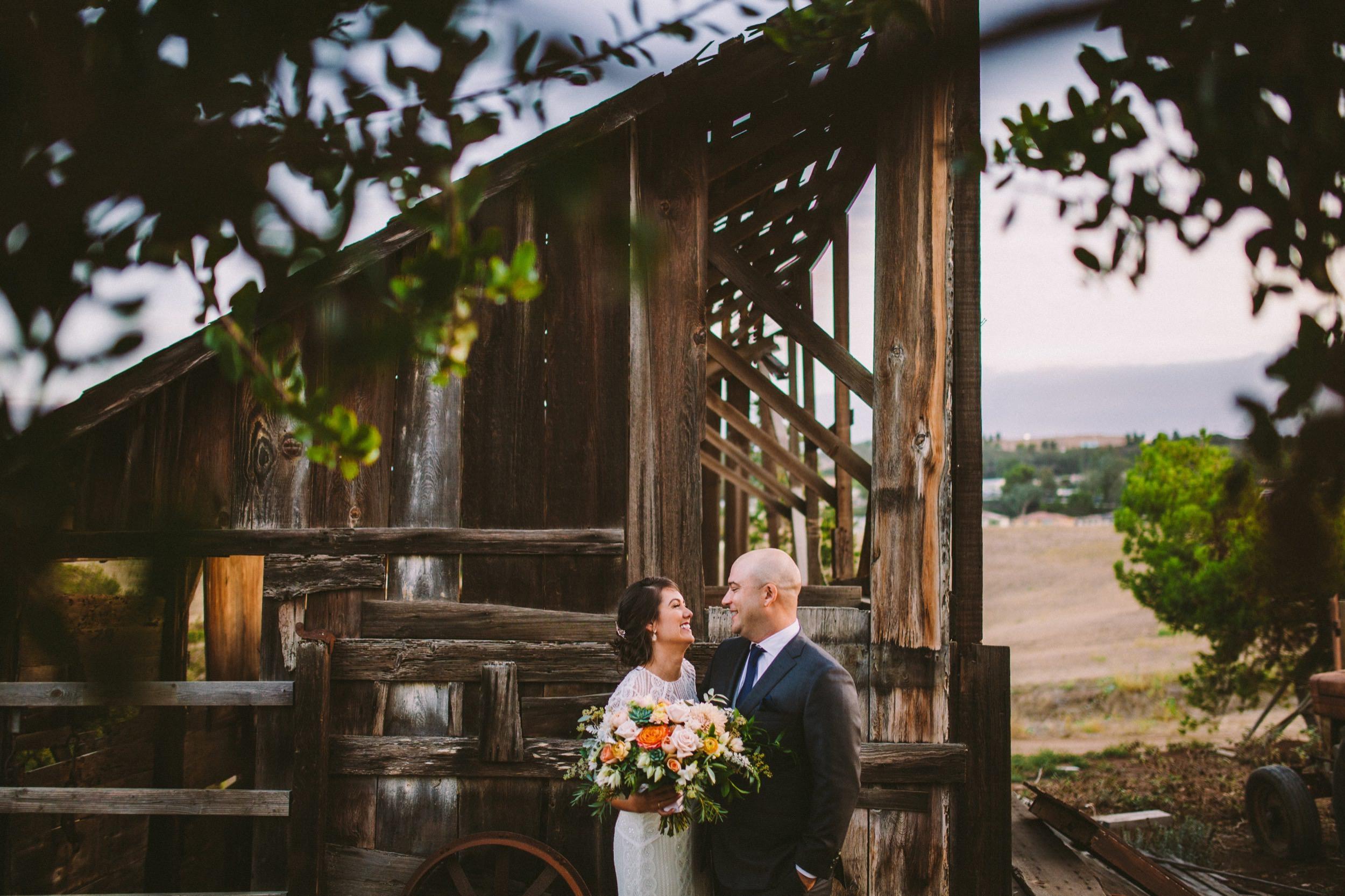 Rustic Barn Wedding in Carlsbad Ranch