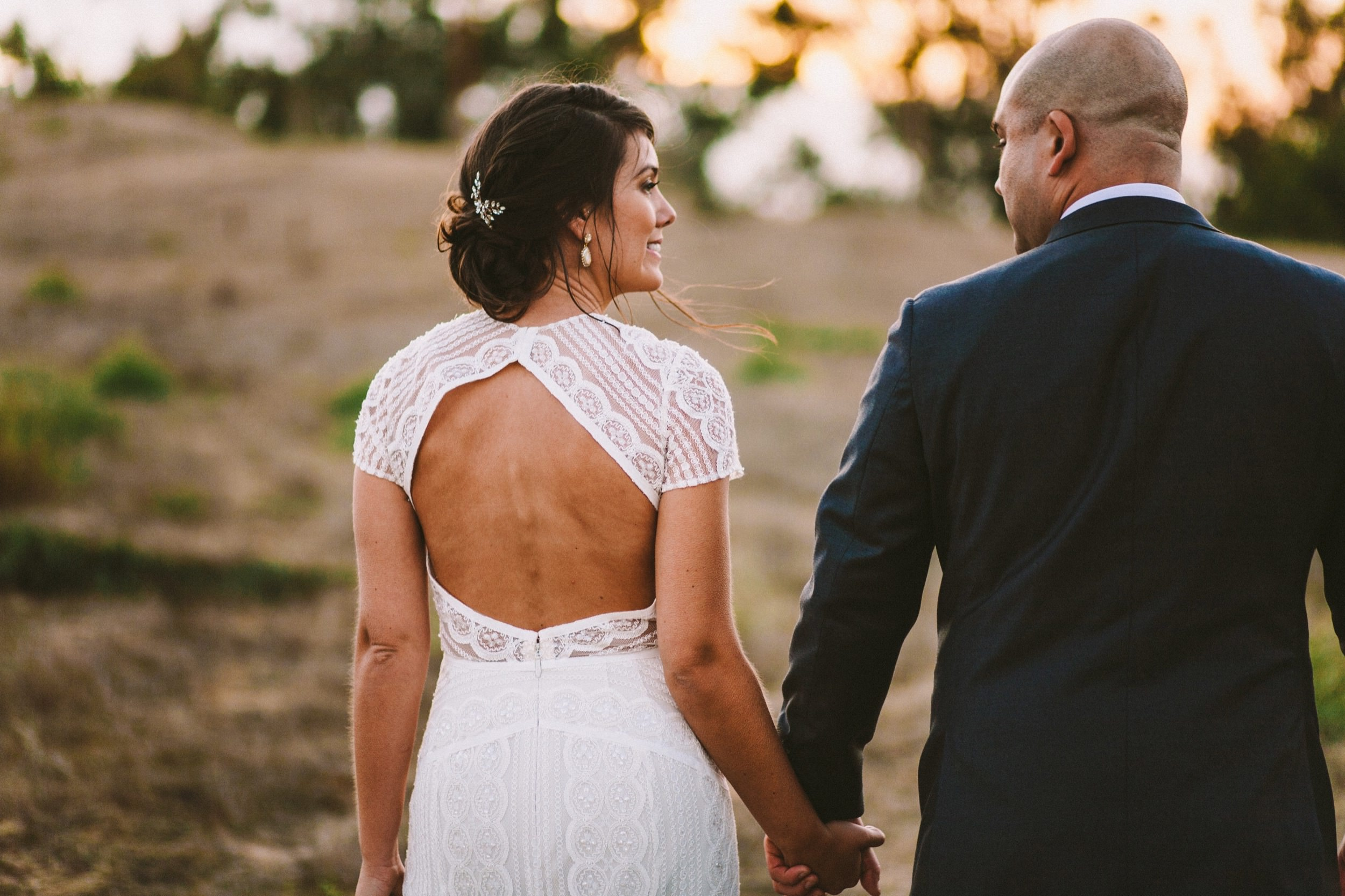 Bride in BHLDN Monica Wedding Gown in Carlsbad