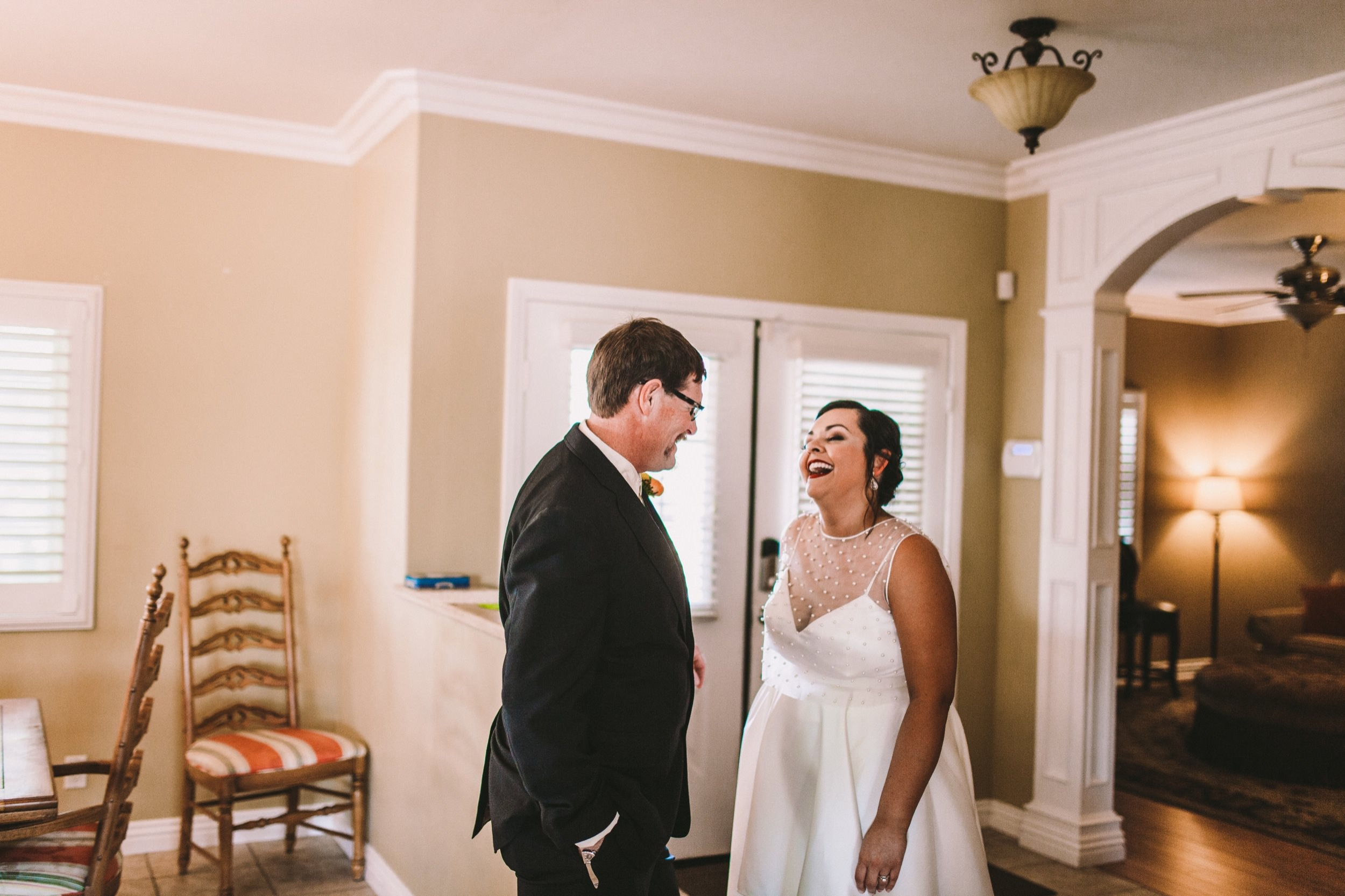 Father of the Bride First Look - Temecula Documentary Wedding Photography