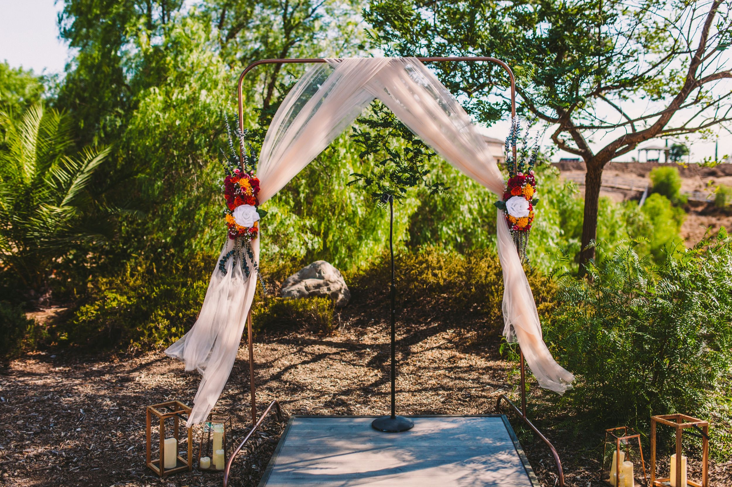 Sweet Stems Florist Temecula Wedding Day Colorful Flower Arch