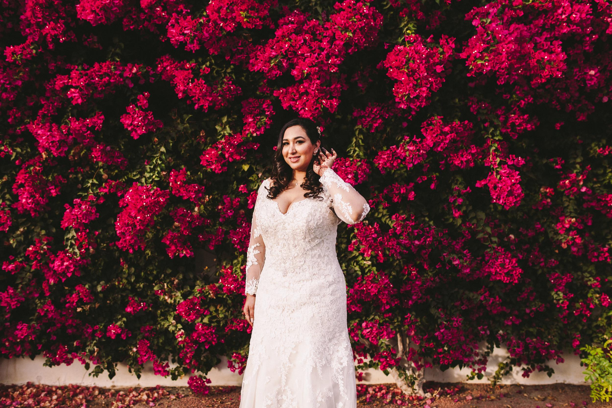 Bougainvillea Wedding Day Photo Backdrop