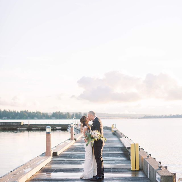 Sweet love on the dock at sunset. ☀️ Loved capturing Jenny + Mike's beautiful PNW wedding the Woodmark! ⠀⠀⠀⠀⠀⠀⠀⠀⠀ . . . Venue @woodmarkhotel  Gown @pronovias  Groom's Attire @theblacktux  Coordination Maryam Richards Events DJ @integraldjs  Photography @sarahharrisphoto  Videography @jamesaustinfilms  HMUA @salonmaisoninc  Florist @pearlstudioseattle ⠀⠀⠀⠀⠀⠀⠀⠀⠀ . . . . #ishootfujifilm #seattlebride #washingtonweddingphotographer #washingtonfilmphotographer #portraitcollective #filmisnotdead #filmphotography #naturallightphotography #weddingphotographer #fineartfilmphotographer #seattleweddingphotographer #fineartfilm #internationalweddingphotographer #luxuryweddingphotographer #pnwphotographer #nwphotographer #pursuitofportaits #ishootfilm #engaged #seattlebridemagazine #woodinvilleweddingphotographer #snohomishweddingphotographer #oregonweddingphotographer #sarahharrisphoto #sarahharrisweddings #sarahharrisbride #woodmarkweddings