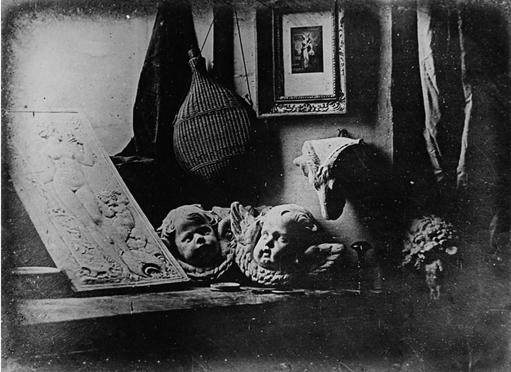 Daguerreotype Daguerre Atelier 1837 ,  Louis Jacques Mandé   Daguerre  – f aithful photographic reproduction of a two-dimensional,   public domain   work of art.