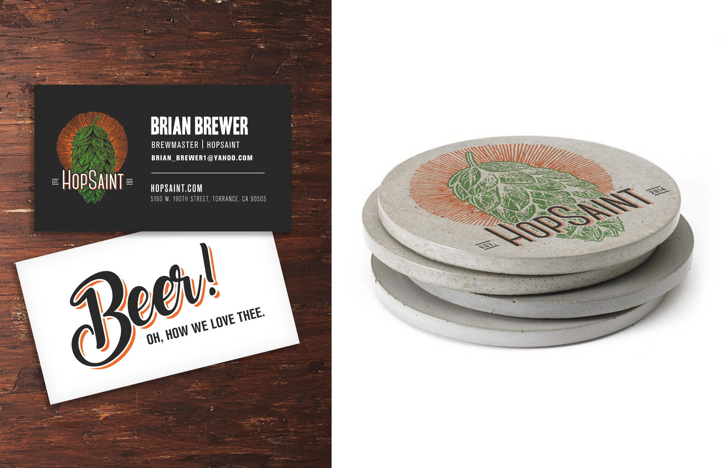 Business Cards / Coasters Redesign.