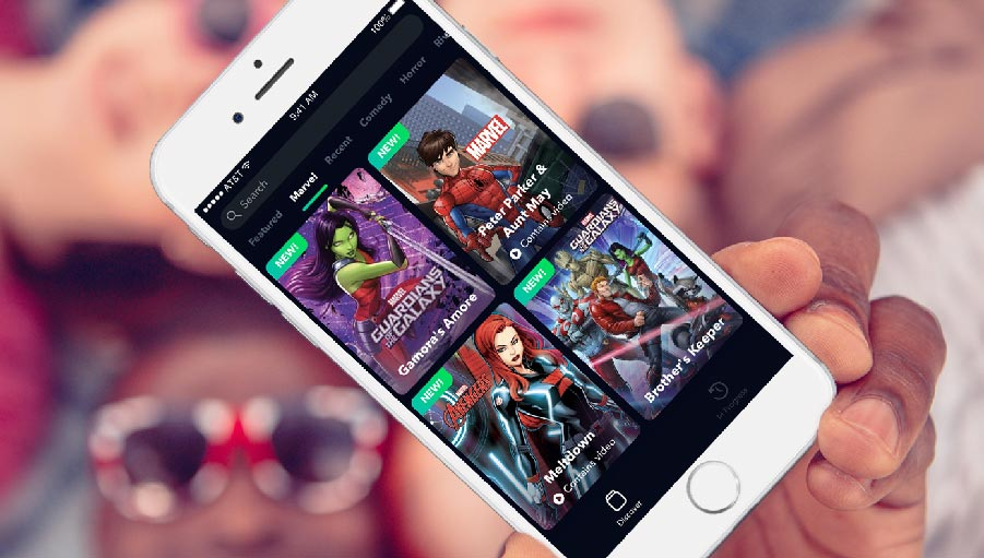 - Through a new partnership with Marvel Entertainment, Mammoth Media's storytelling app Yarn will offer dozens of new adventures featuring Marvel superheroes such as Spider-Man, Black Panther, Captain America, Iron Man, the Avengers and the Guardians of the Galaxy.Read More