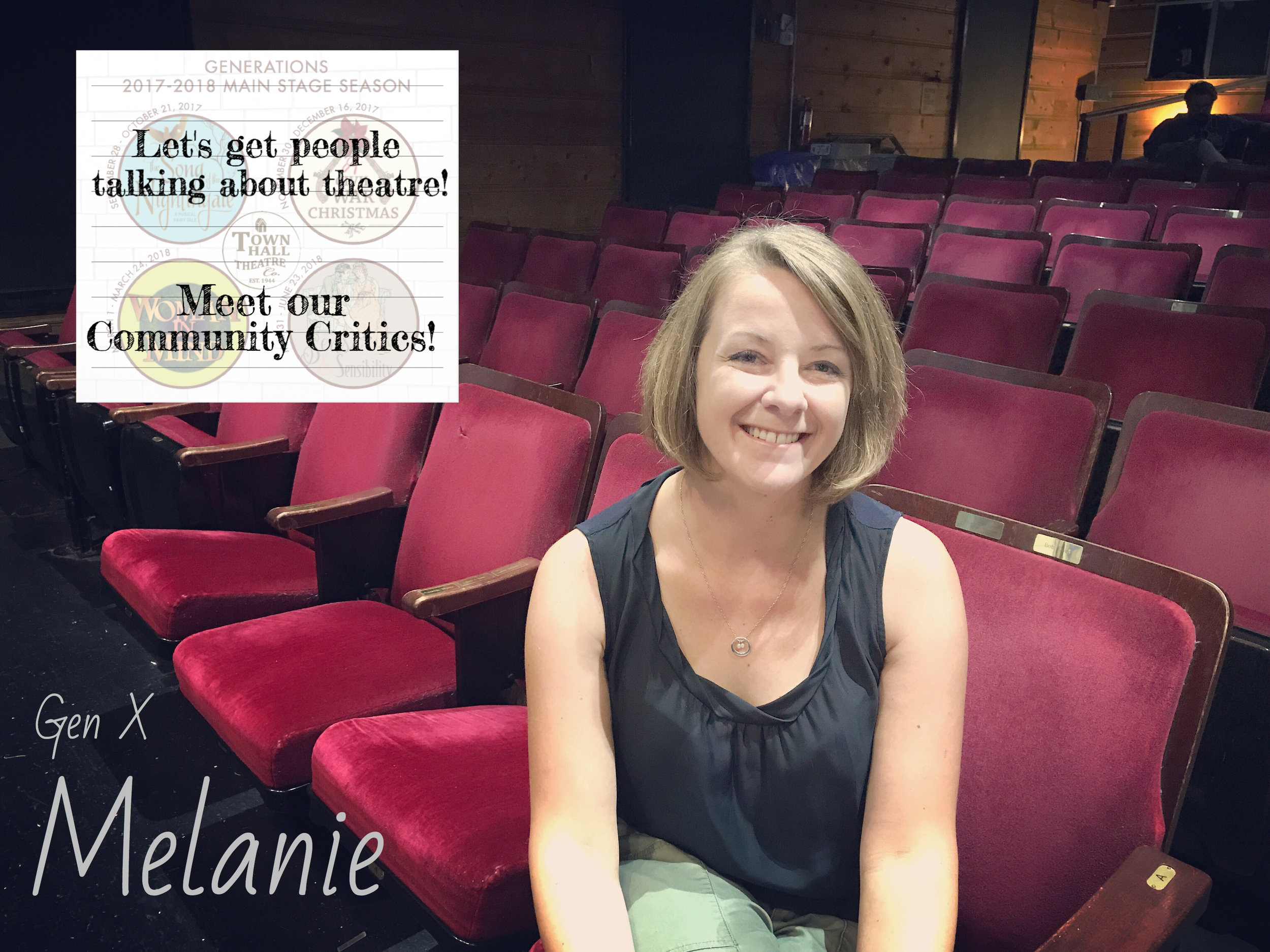 Melanie - READ WHAT MELANIE HAS TO SAY ABOUT OUR UPCOMING SEASON!READ WHAT MELANIE HAS TO SAY ABOUT SONG OF THE NIGHTINGALE!READ WHAT MELANIE HAS TO SAY ABOUT A CIVIL WAR CHRISTMAS!READ WHAT MELANIE HAS TO SAY ABOUT WOMAN IN MIND!