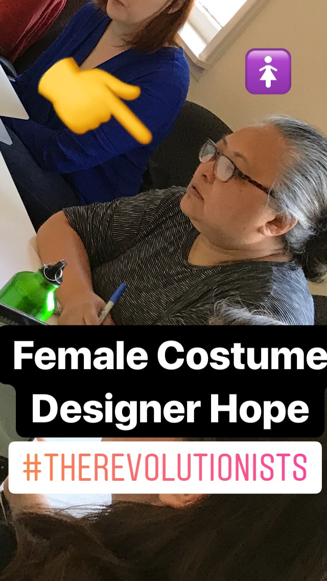Award winning costume designer Hope Birdwell is building an originally designed late 1700's inspired gown for our actor portraying Marie-Antoinette! The material has been purchased, measurements taken and now the sewing can begin!