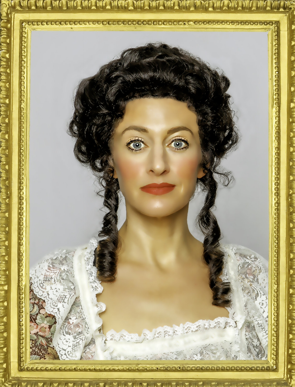 Sarah Mitchell as Olympe de Gouges in  The Revolutionists  at Town Hall Theatre