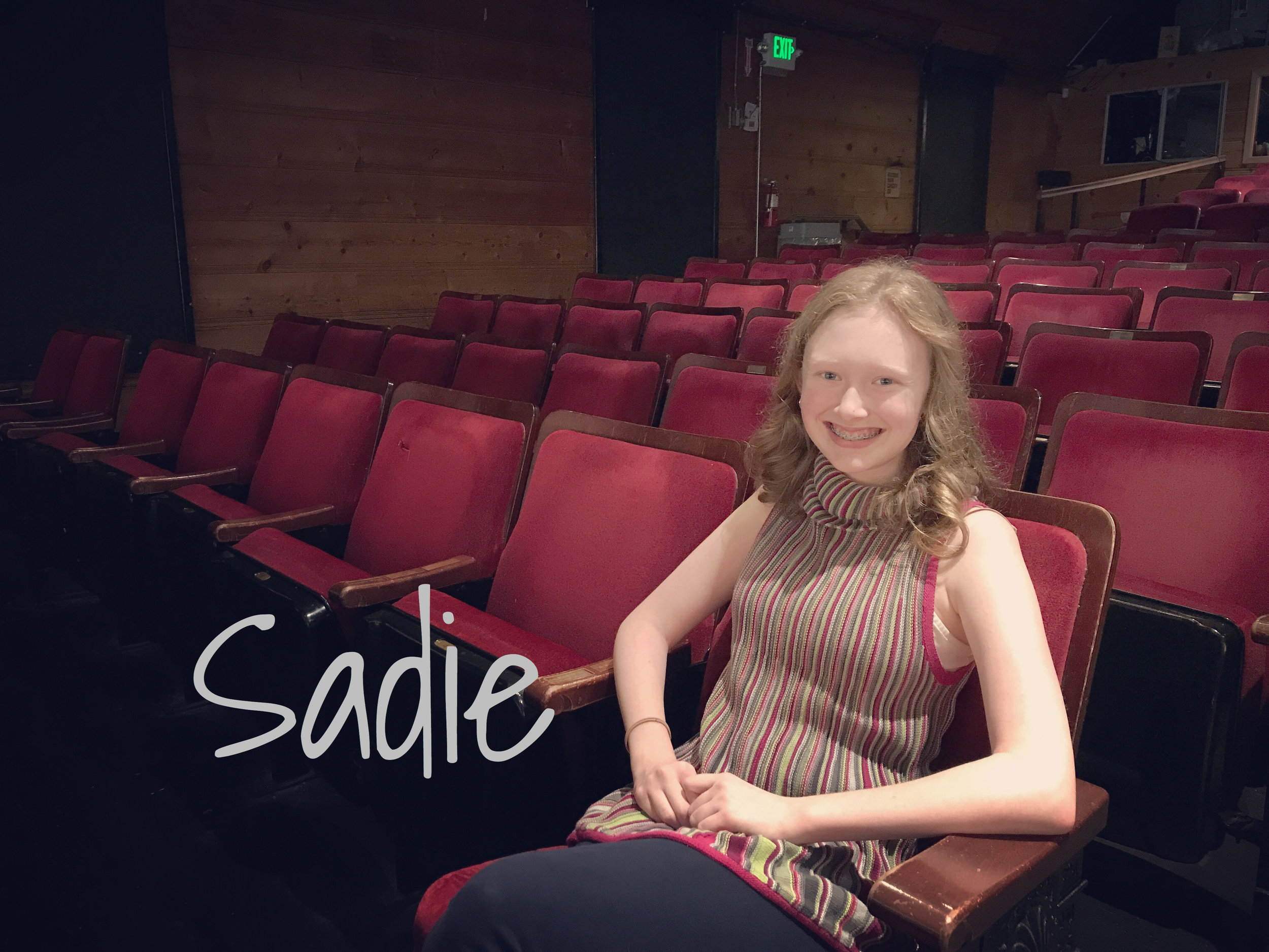 Sadie - READ WHAT SADIE HAS TO SAY ABOUT THE REVOLUTIONISTS!READ WHAT SADIE HAS TO SAY ABOUT GREAT EXPECTATIONS!READ WHAT SADIE HAS TO SAY ABOUT BROOKLYN BRIDGE!READ WHAT SADIE HAS TO SAY ABOUT WOMEN ON THE VERGE!