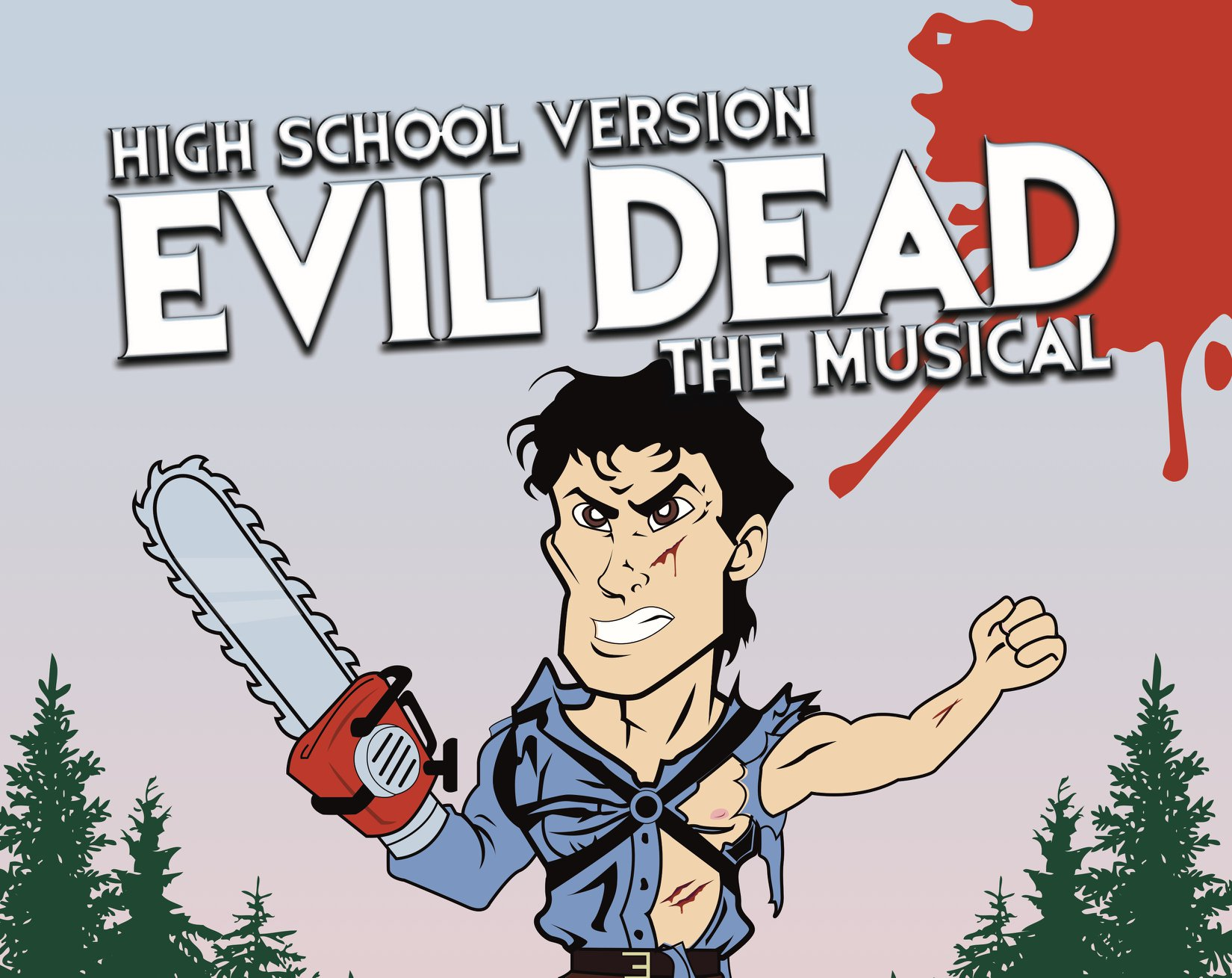 """High School:Evil Dead: The Musical (High School Version) - """"It's the Evil Dead!"""" Our high schoolers will tackle the crazy, campy genre of horror comedy with an age appropriate* version of Evil Dead: The Musical. Demons and dance numbers galore! This class culminates in a full production.This class is by audition only. Email education@townhalltheatre.com to set up an audition.*THEd does not encourage our students to watch the source material for this piece. The high school version has been heavily edited to be appropriate for our students. - Book and lyrics by George ReinblattMusic by Frank Cipolla, Christopher Bond, Melissa Morris and George ReinblattMusic supervision by Frank Cipolla Additional lyrics by Christopher Bond Additional music by Robe Daleman"""
