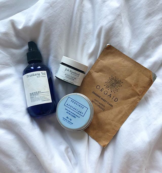 #selfcaresunday brought to you by some of my fav things. P.s. my dad uses @provinceapothecary maybe just as much as I do... #happyfathers day to all the fathers and father figures out there. . . . p.p.s I misted myself at least three times while writing this caption. -R