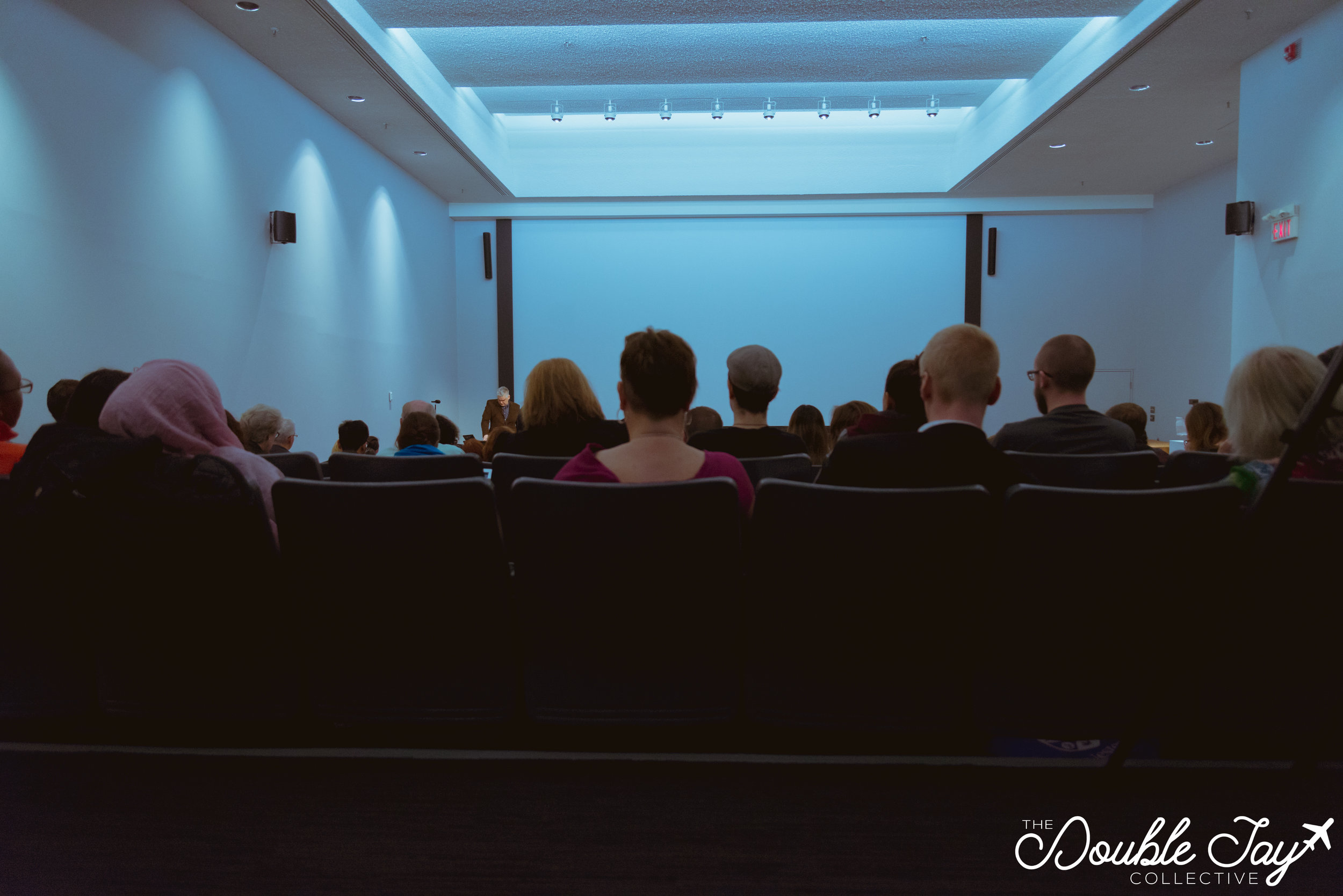 Audience members gathered together in the Lecture Hall on Friday morning to listen to the opening Keynote Speaker, Glen Coulthard.
