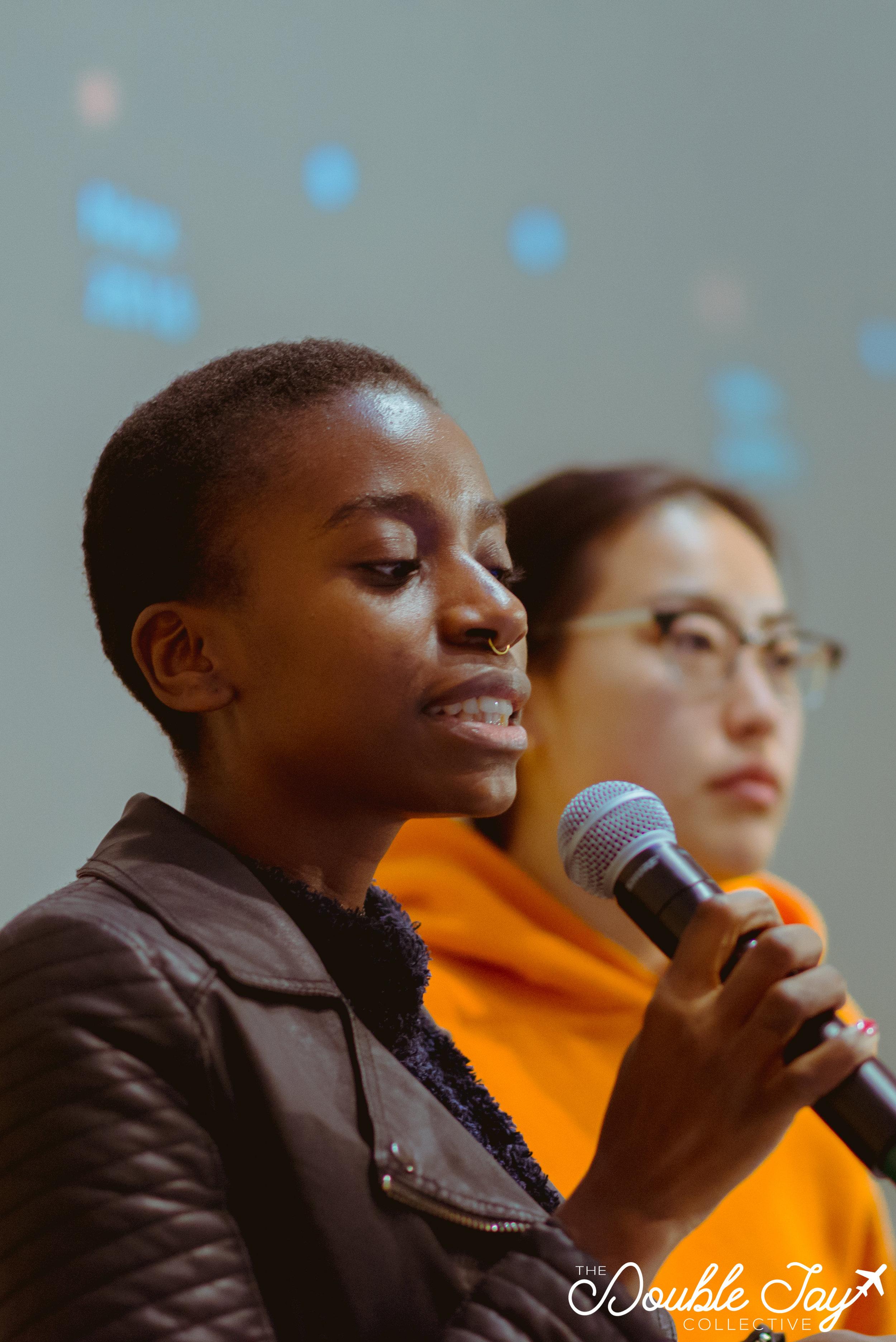 Marie Kamukuny, student at Western University, and member of OESC.