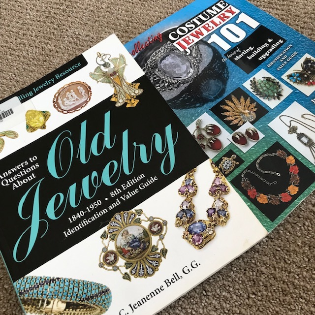 "My two ""go-to"" vintage jewelry resource books."