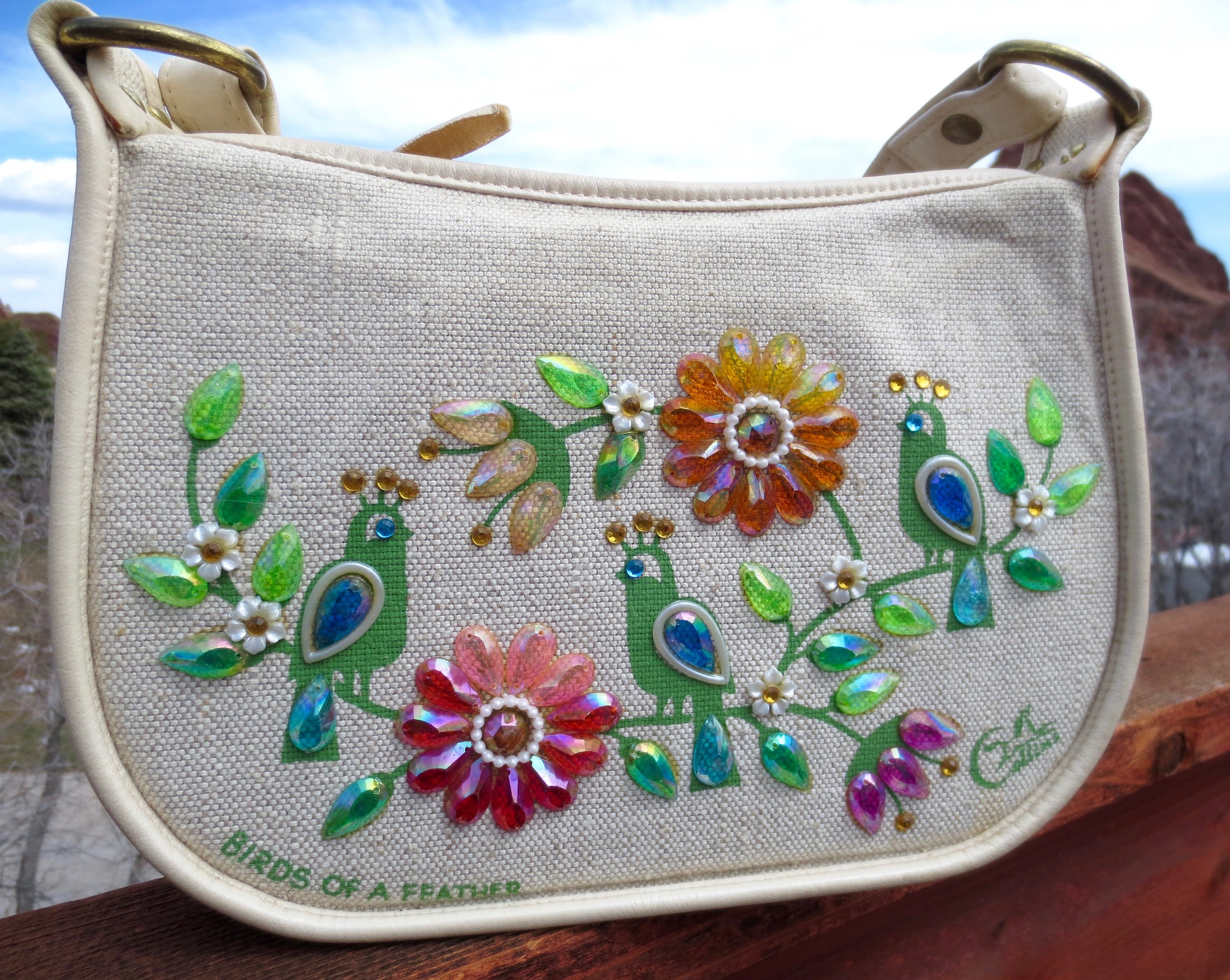 """Enid Collins Beaded Purse """"Birds of a Feather"""""""