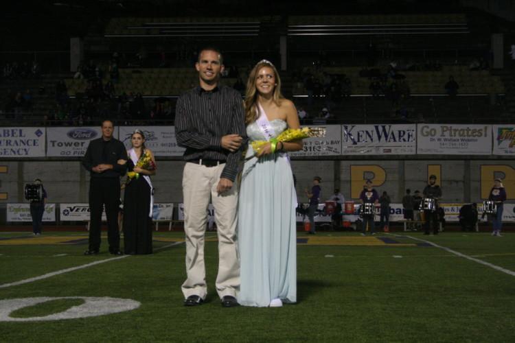 Senior Samantha Waldrop was escorted by her father, Michael Waldrop.