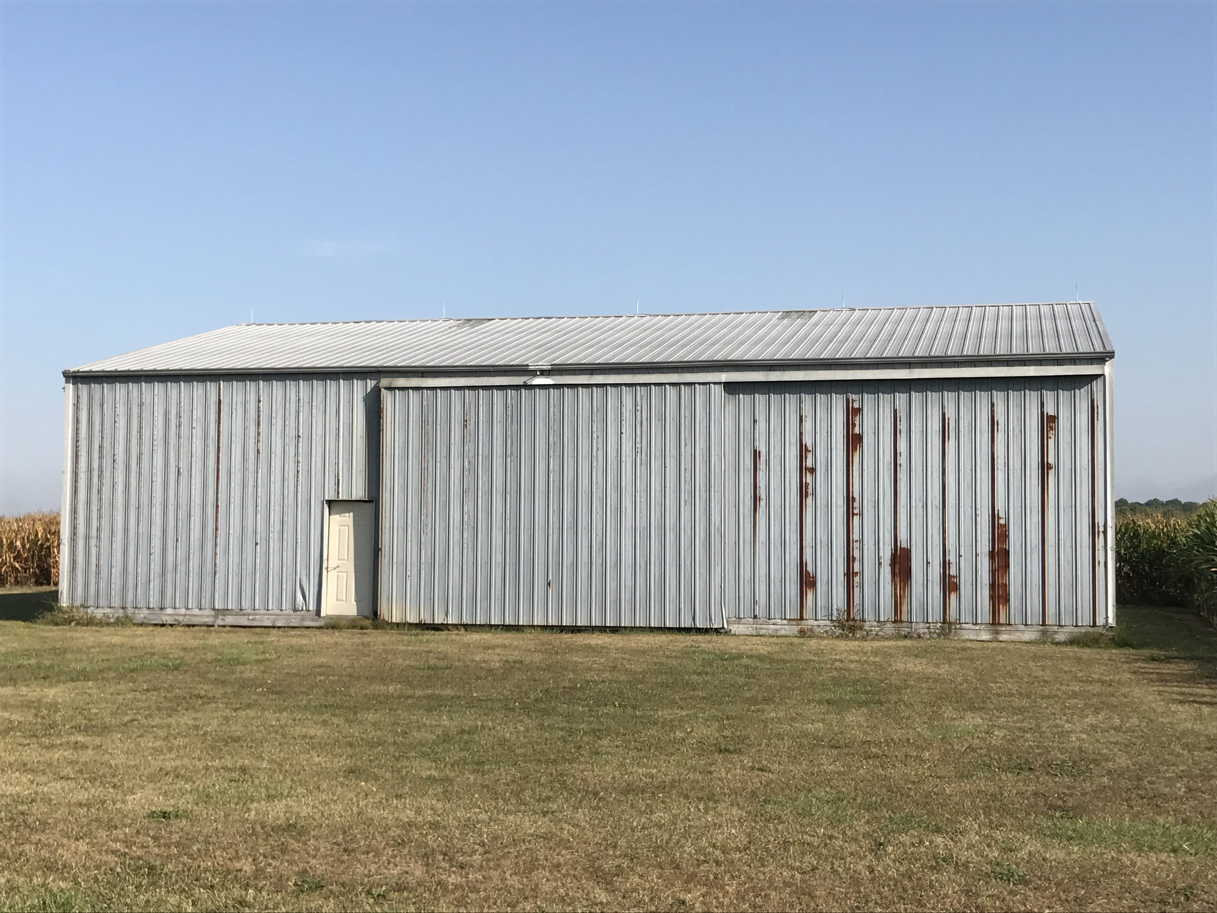 The machine shed on the southwest corner of the South Tract.