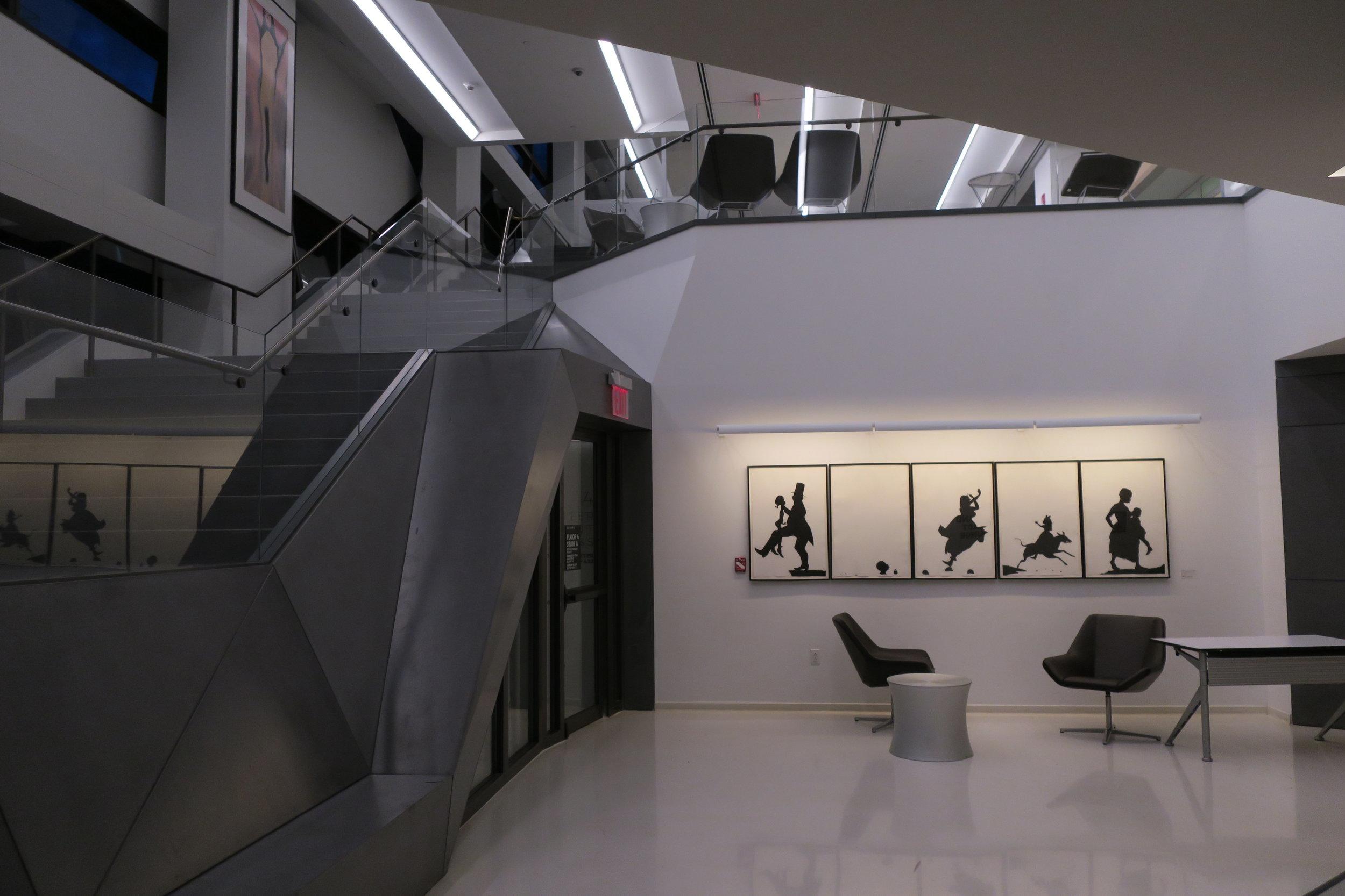 Kara Walker installation at The New School University Center, 63 Fifth Avenue, New York City