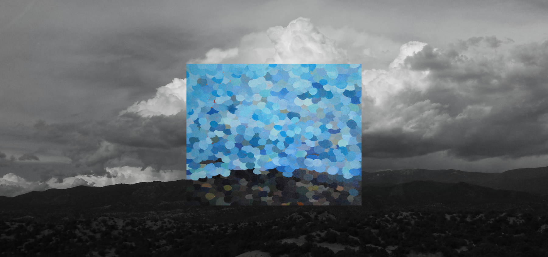 Between the Earth and Sky, digital composite of photograph and acrylic on canvas, 2015