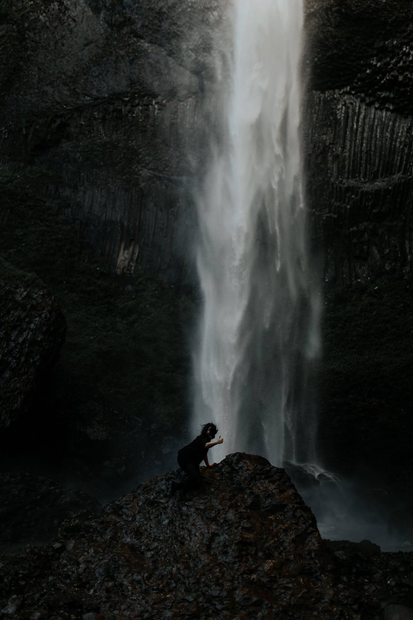 From an elopement at Latourell Falls / Photo by   Jamie Carle