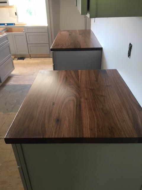 Modern Walnut Counter Tops