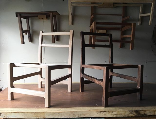 Second modern chair in hard maple taking shape. A little more sculpting and sanding..