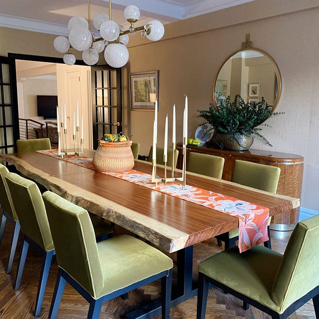 An extra long dining table to compliment a recent renovation. Design by @robstuartinteriors