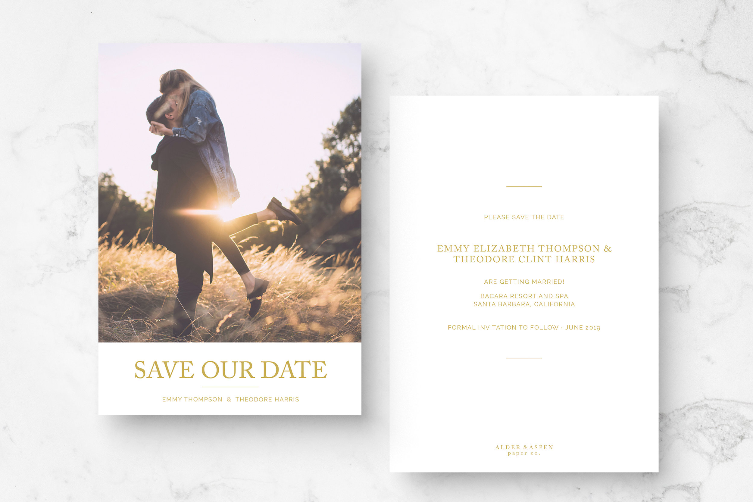 """Elegant"" Save The Date"