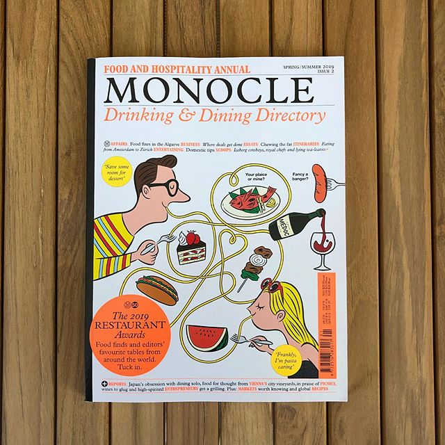 Let's see what Tyler, Andrew and friends have to say this year. Love the cover. 🙌 . . . #print #magazine #monocle #illustration #design #foodjournalist #restaurant #cafe #bar #cocktails #printsnotdead