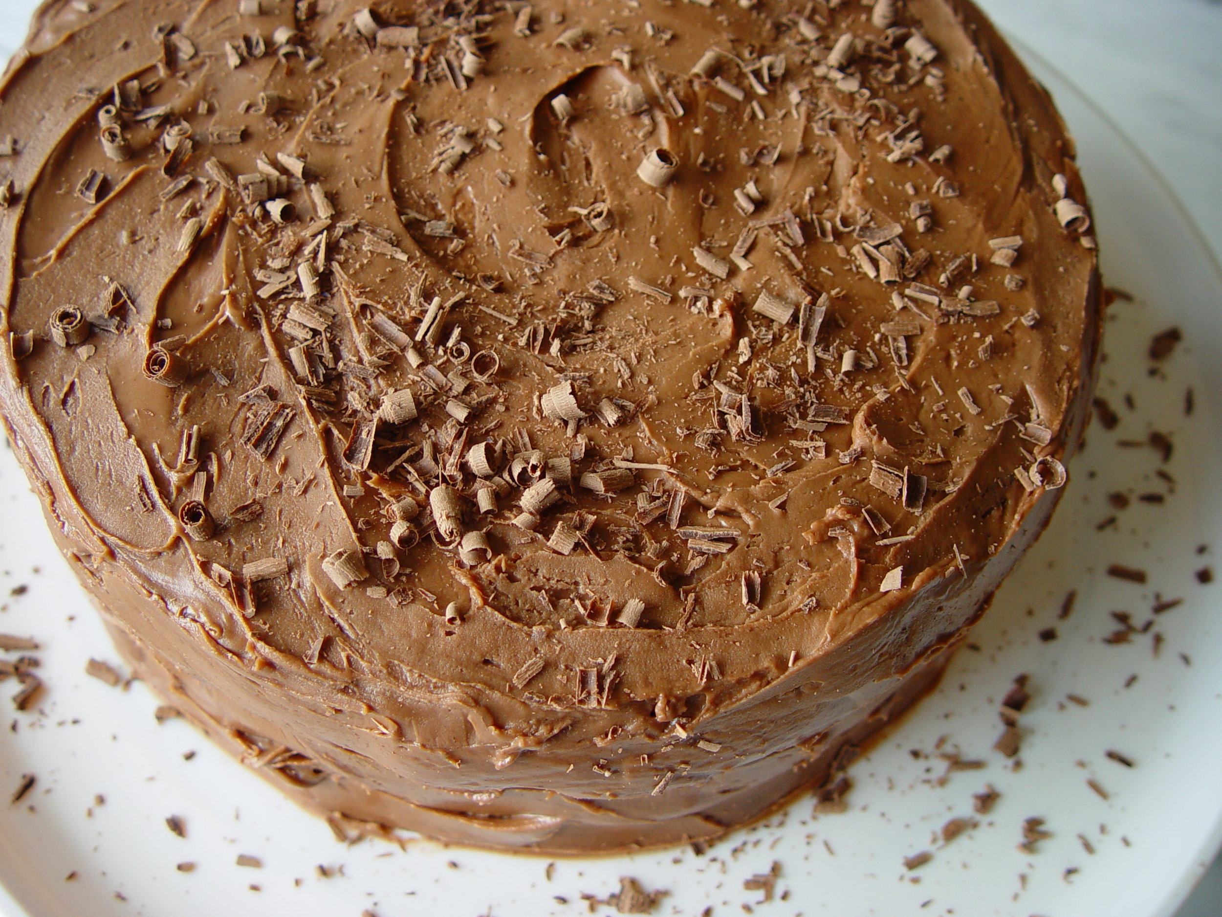 Double Layer Chocolate Cake revised from Hershey's 1934 Cookbook
