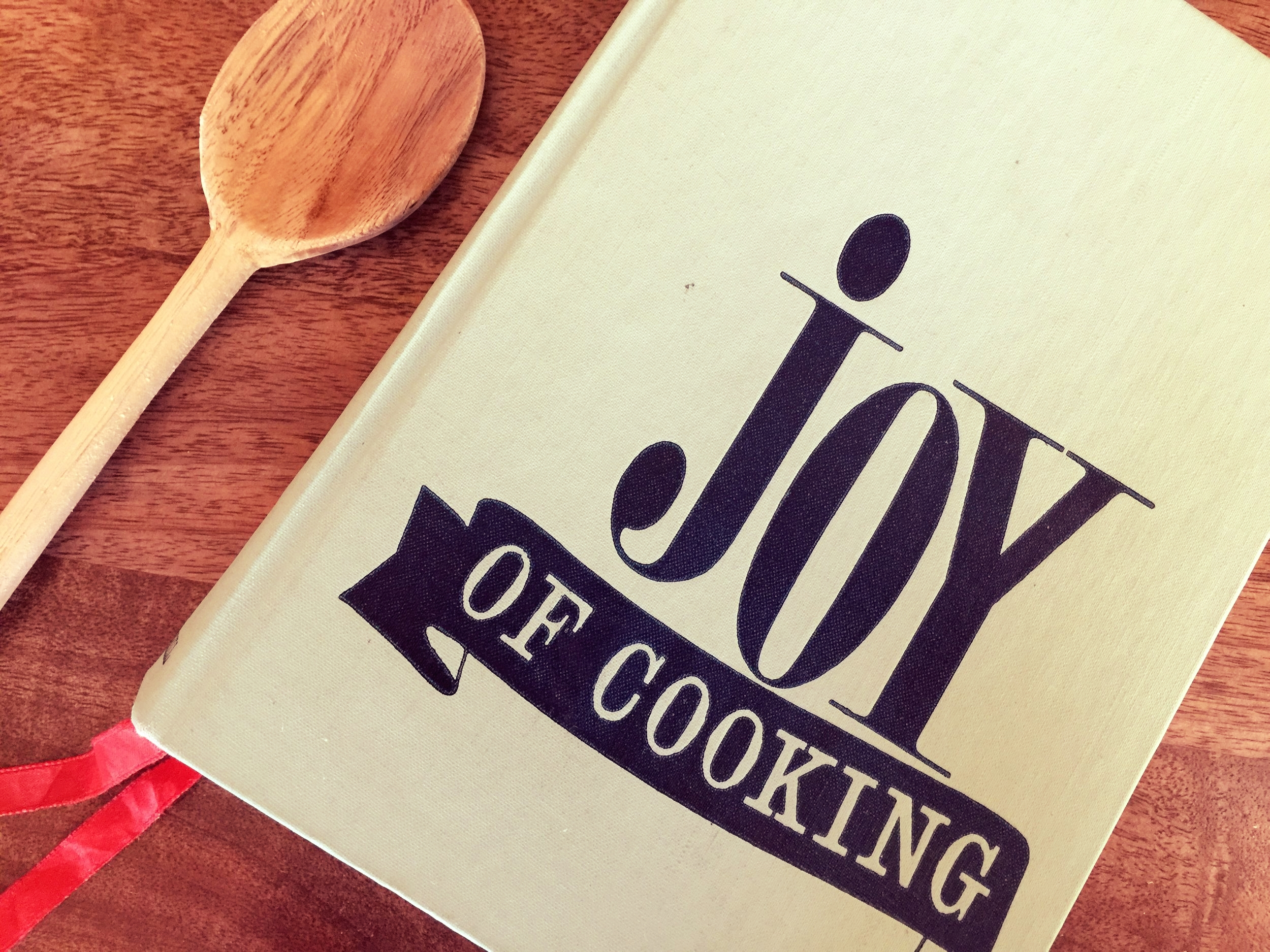 One of my favorite cookbooks, The Joy of Cooking dated 1964