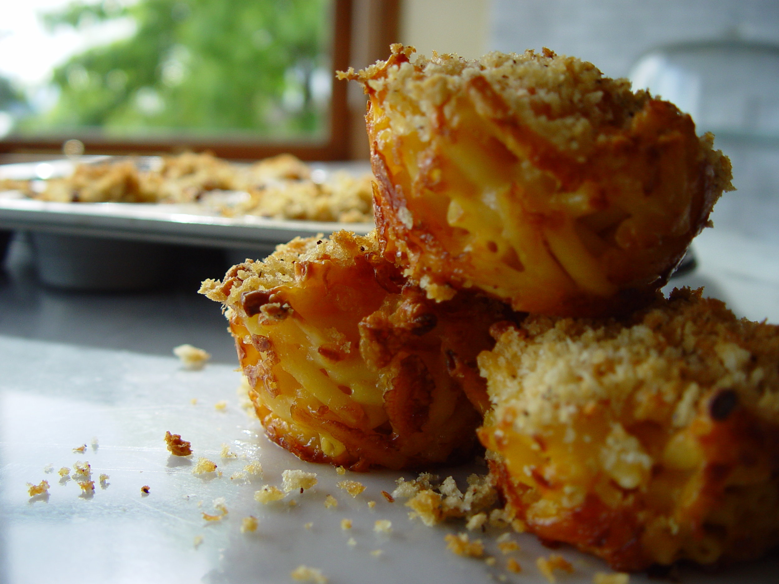 Try these delicious Mac 'n' Cheese Muffins revised from McCall's Cookbook dated 1963