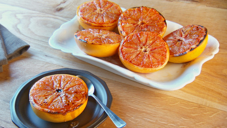 Broiled Sweetened Grapefruit Halves Photo Courtesy of marthastewart.com
