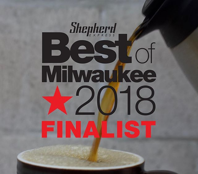 We made it as a finalist for Brunch in the @shepherdexpress Best of Milwaukee for 2018. Tap the link in our bio, hit Dining Out, then find the brunch category and vote for us 🗳🤗