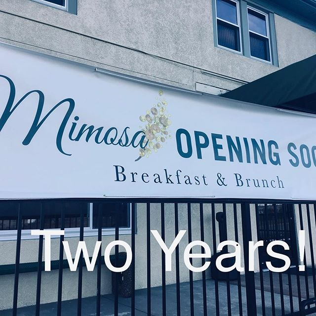 Dear all,  Two years ago we first opened our doors (one day late) to all of you, our Valentines 🌹. It has been an unbelievable journey and if we had the chance... we'd do it all again 😉. Thank you for the memories and the ones to still be made. Just like last year, today the first Mimosa is on us. Love, Mimosa 🥂