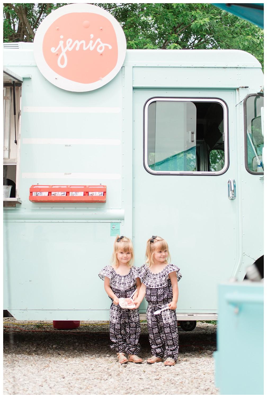 Jeni's Ice Cream teal food truck