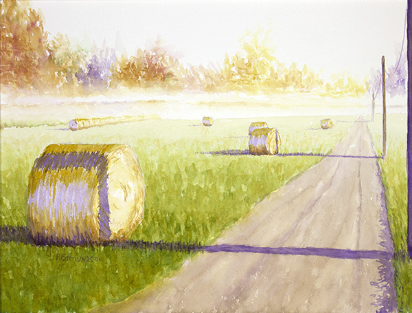 Anderson's Bales, Bright October Morning