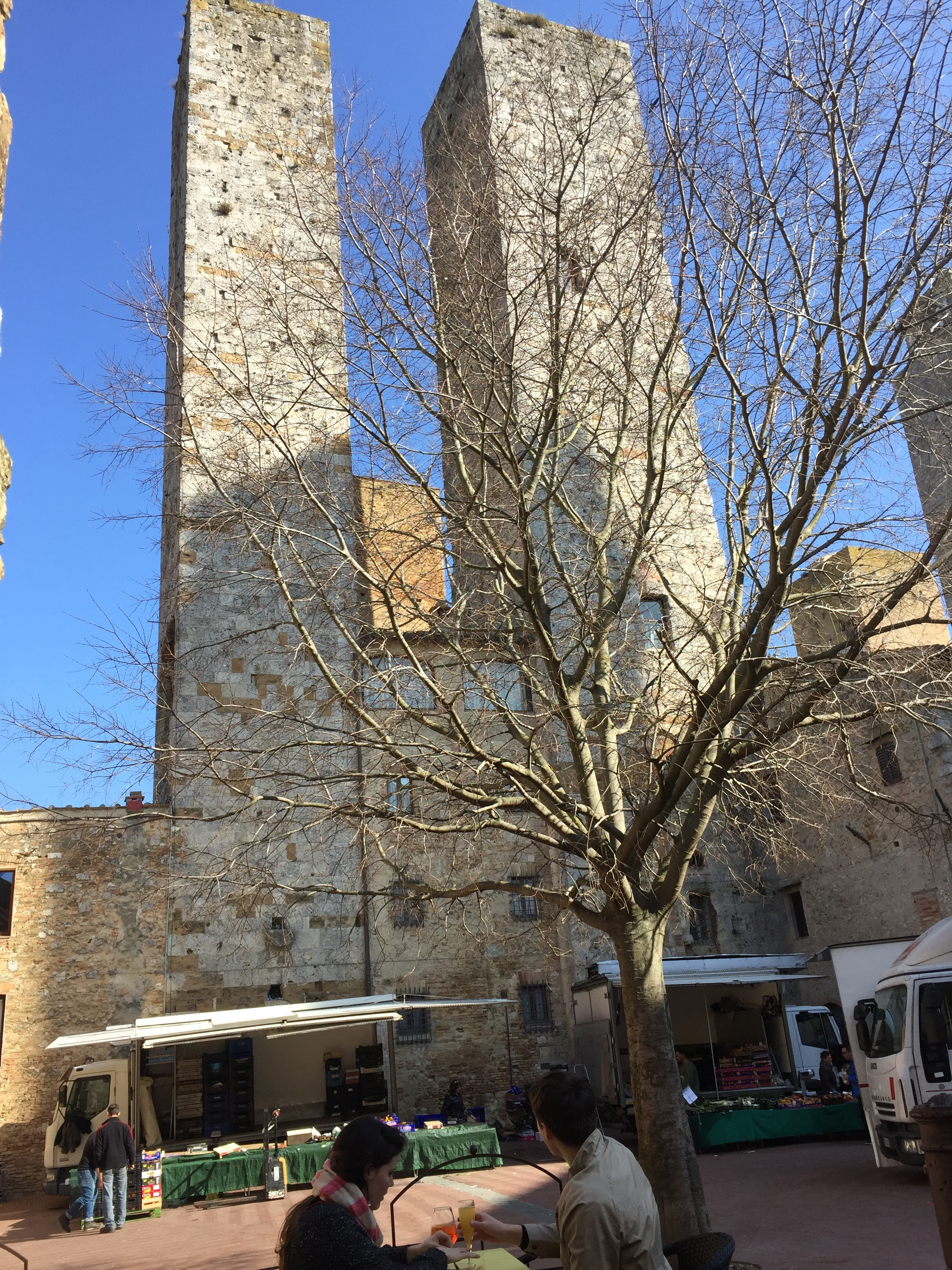 The Salvucci towers from the cafe across the piazza.JPG
