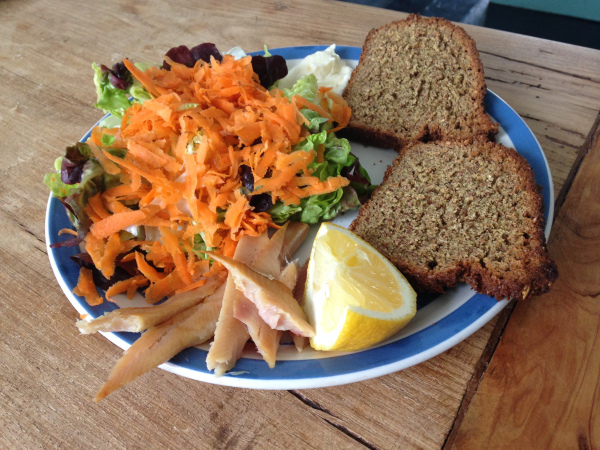 A beautiful meal from Irish farm shop ingredients - cheap, local, delicious.