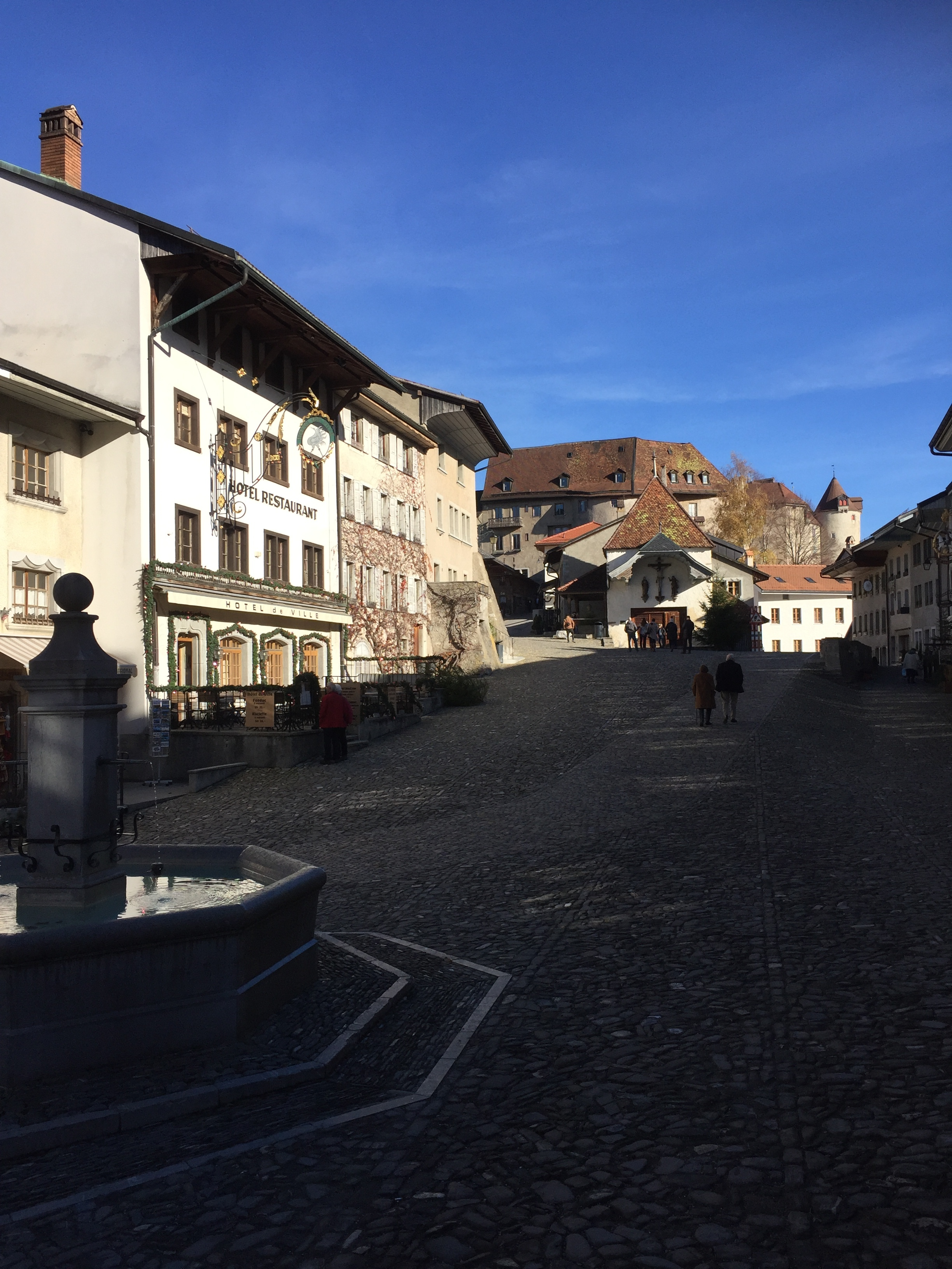 Gruyere's main - and only - street