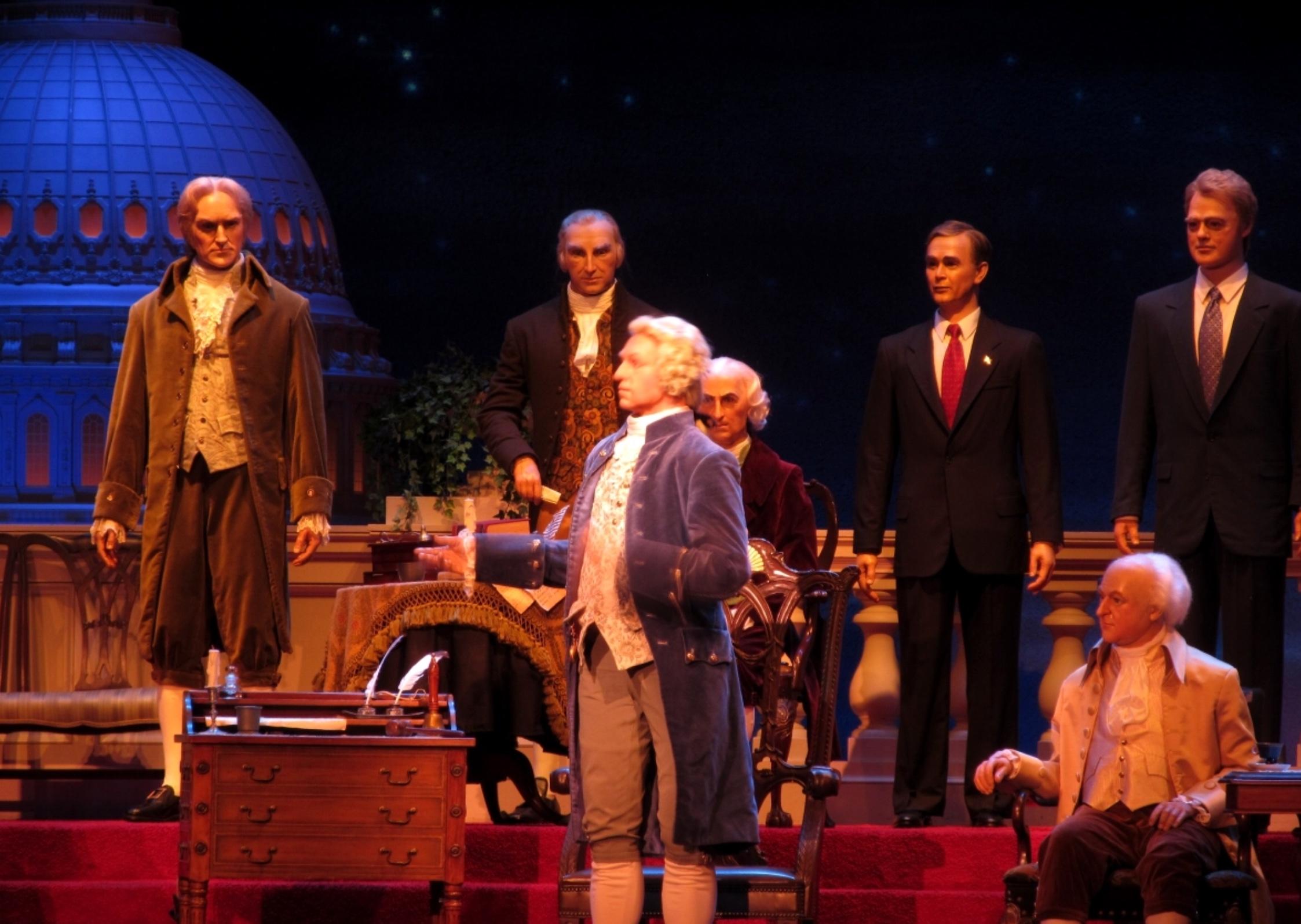 Disney's animatronic Hall of Presidents.
