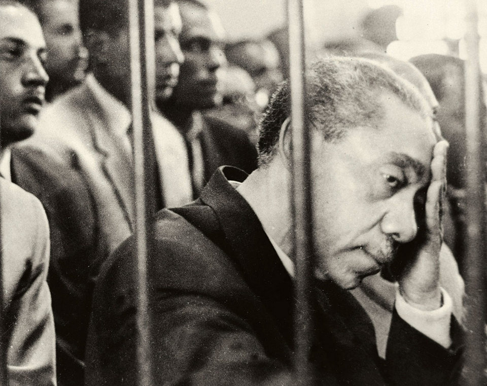 Sayyid Qutb in a military tribunal
