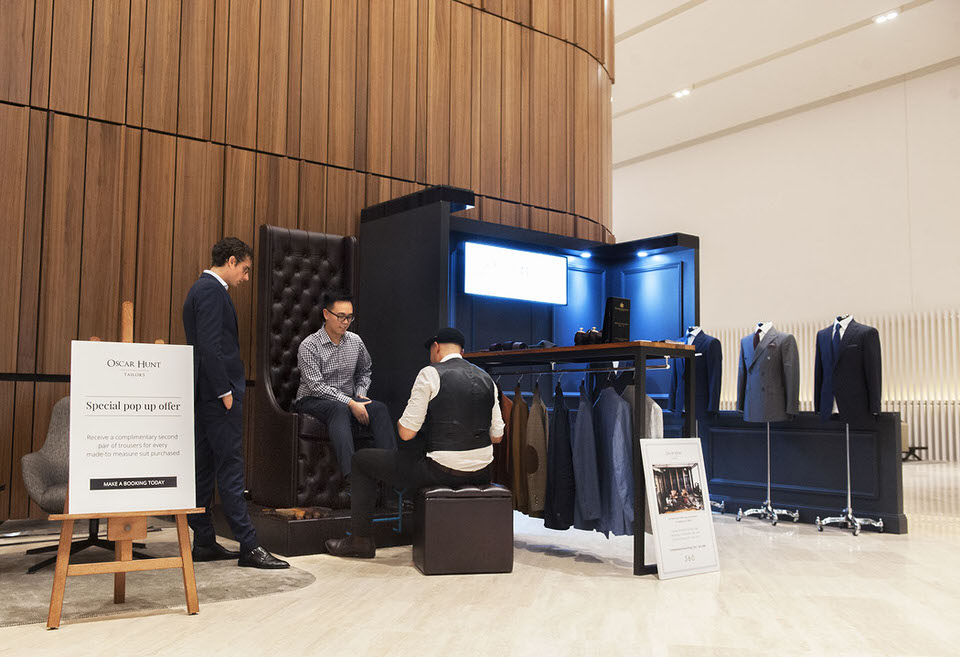 Oscar Hunt Tailors pop-up at 360 Collins Street Melbourne