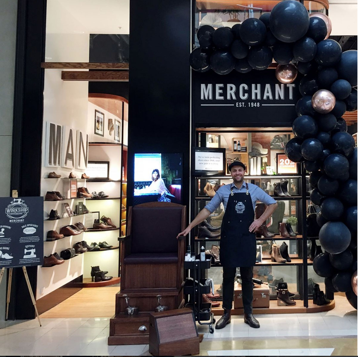 Merchant 1948 launch promotion at Chadstone Shopping Centre