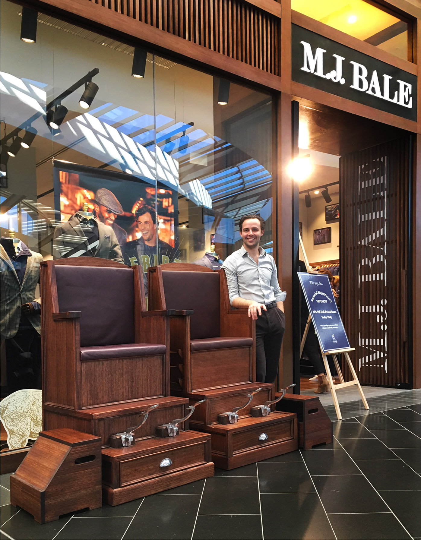 M.J. Bale store launch at Highpoint Shopping Centre