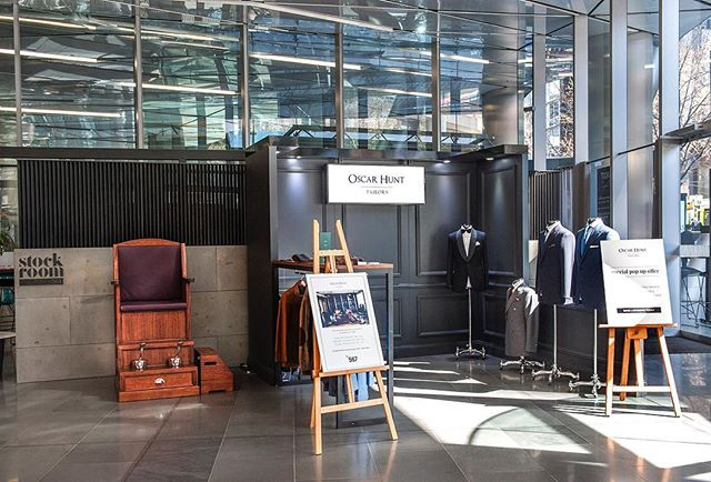 Flashback to our August 2018 @fortisgreenshoeshine activation for @oscarhunttailors to promote their made to measure suiting service. Over three days we offered complimentary shoe shines within the light filled lobby of 567 Collins Street, Melbourne while dapper gents learned more about Oscar Hunt's premium made to measure service.  #shoeshine #oscarhunt #shoeshinemelbourne #eventsmelbourne #madetomeasure #collinsstreet #melbourne #melbourneevents #shoeshinechair