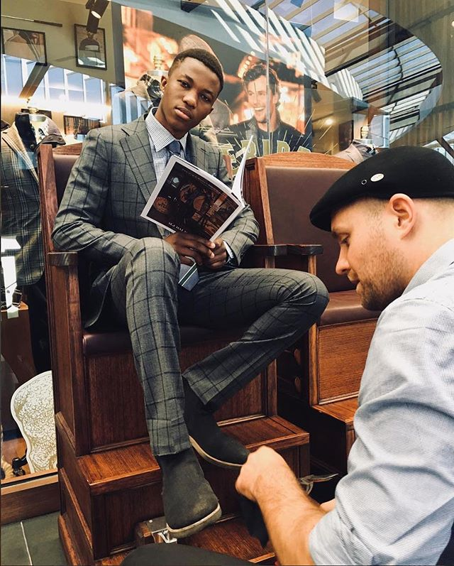 Flashback to the @mjbale store VIP Event at @highpointofficial earlier this year offering complementary shoe shines & suede buffing